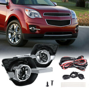 Clear Bumper Lamps Driving Fog Lights switch bezels For 10 16 Chevy Equinox Lt