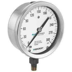 Ashcroft 1009a Pressure Gauge process 1 4in Npt silver