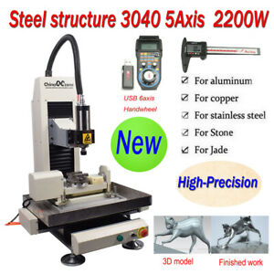 Steel Structure Cnc 3040 5 axis 2200w Metal Router Engraver Cutting Machine
