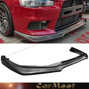 Fit Lancer 08 13 Evo10th Sedan Tuning R Type Carbon Fiber Front Bumper Lower Lip