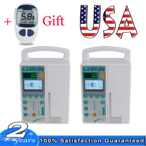 2pcs Iv Fluid Infusion Pump Lcd Monitor Audible Visual Alarm For Human