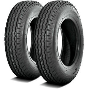 2 New Deestone D292 St 7 14 5 Load F 12 Ply Trailer Tires