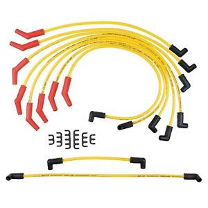 Accel Spark Plug Wires 8 8mm Spiral Core 8 8mm Yellow Stock Boots Ford 5 0 7 5l