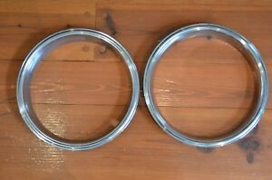Ford 1984 Ford Escort Beauty Rims Rings Wheel Trim Set Of 2 Oem Nos