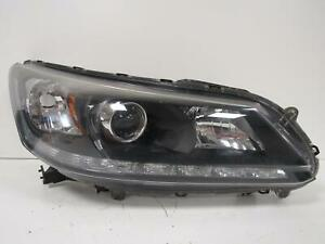 2013 2014 2015 Honda Accord Passenger Rh Halogen Headlight W Led Drl Oem D81r