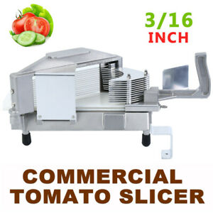 Commercial Tomato Slicer 3 16 Stainless Steel Blade Tomato Cutting Machine