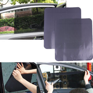 2pcs Car Side Window Mesh Film Windshield Net Sun Shade Sticker Uv Protectionxl