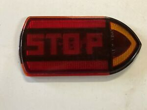 Vintage Guide R t5a Stop Turn Signal Light Fire Truck Old Bus Red Glass Lens