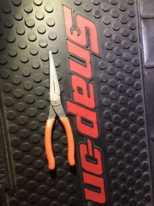 Brand New Snap on 97acf Orange Handle 7 Needle Nose Pliers Free Shipping