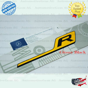 Amg Gt R Emblem Yellow Glossy Black Letter Trunk Lid Badge Sticker Gt Gtr 2019