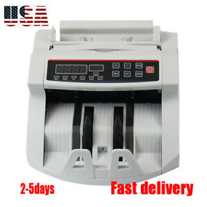 110v Money Bill Currency Counter Counting Machine Uv mg Counterfeit Detector