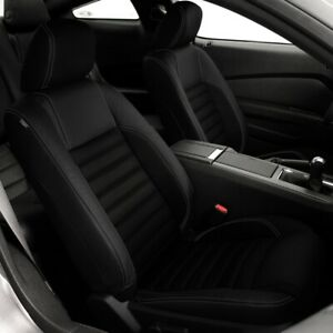 Katzkin Black Raven Repla Leather Int Fits 2013 2014 Ford Mustang Coupe V6 Gt