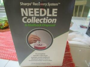 Sharps Recovery System Needle Collection Mailback Disposal Sealed Box