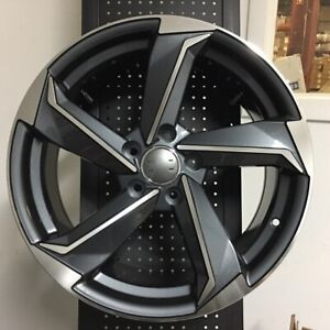 18 Gunmetal Rs3 Style Wheels Rims Fits Vw Volkswagen Eos Cc R32 5x112 Brand New