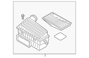 Genuine Volkswagen Air Cleaner Assembly 5q0 129 607 ad