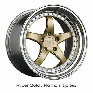 18x10 5 Xxr 565 5x114 3 20 Hyper Gold Platinum Lip Wheels Rims Set 4