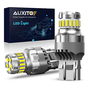 Auxito 7443 7440 Led 2400lm Reverse Backup Light Daytime Running Bulbs 6500k 2f