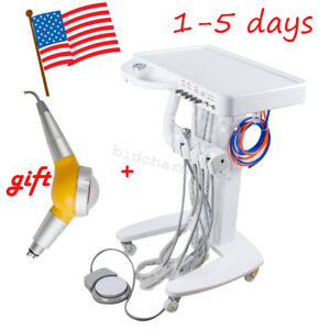 Usa Portable Dental Delivery Unit Handpiece Cart Treatment 4 Hole Air Polisher