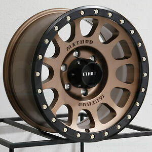 16x8 Method Mr305 Nv 6x5 5 6x139 7 0 Bronze Black Ring Wheels Rims Set 4