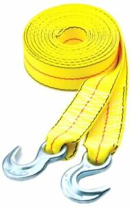 Highland 1017600 20 Yellow Tow Strap With Hooks 1 Piece