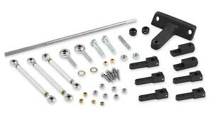 Weiand Throttle Linkage Kit Tunnel Ram Dual Quad Side Mount Chevy 396 454 502