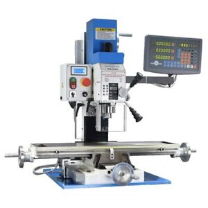 Pm 25mv Vertical Bench Top Milling Machine W dro Variable Speed Free Shipping