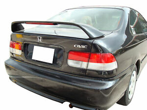 Factory Si Style 2 Post Unpainted Rear Spoiler Fits 1996 2000 Honda Civic Si