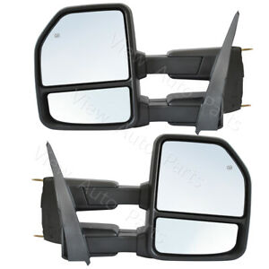 Towing Mirrors For 15 19 Ford F150 Pickup Power Heated Turn Signal 8 Pin Plug