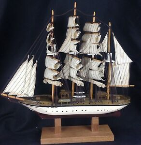 Vintage Wood Clipper Ship 19 Model Nautical Display