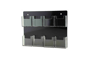 Vertical Business Card Holder 8 Pocket Gift Cards Organizer Wall Rack Qty 6