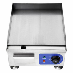 14 1500w electric countertop griddle flat top commercial restaurant grill bbq