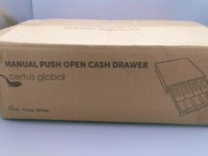 Certus Global Cash Drawer With Ringing Bell 4 Bill Slots 5 Coin Trays 13 White