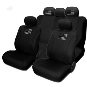 For Chevy New American Flag Design Front Rear Car Truck Suv Seat Covers Set