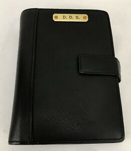 Scully 6 ring Black Leather Day Planner Organizer New