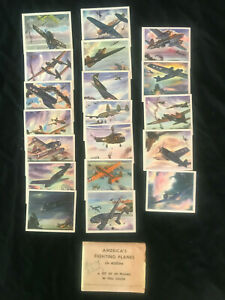 Complete 1940s COCA COLA America's Fighting PLANES in Action 20 CARDS W/Envelope