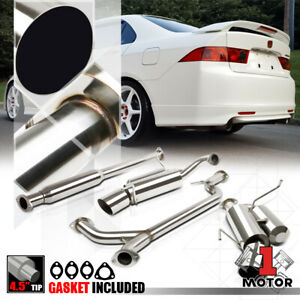 Ss Dual Muffler 4 5 Tip Catback Exhaust System For 04 08 Acura Tsx Cl9 K24a2