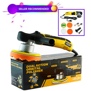 6 680w Electric Car Polisher Dual Action Buffer Sander Kit 6 Speed W Wax Cover
