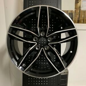 18 Black Rs6 Style Wheels Rims Fits Vw Volkswagen Golf Gti Jetta Gli Passat