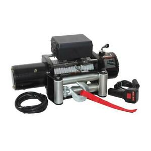 Winch 12 000lb Tow Capacity 12v Electric 6hp Motor Truck Jeep Bumper Recovery
