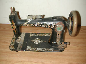 Antique Vintage Goodrich A Rotary Treadle Sewing Machine Head As Is