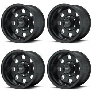 17x9 American Racing Ar172 Baja 5x5 5x127 12 Satin Black Wheels Rims Set 4