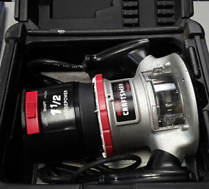 Sears Craftsman 1 1 2 Horsepower Heavy Duty Corded Router In Case 315 174921