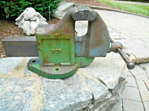 Starrett 925 Bench Vise With 5 Wide Jaws 81 Lbs