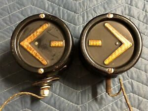 Nos Pair Vintage Kd Sho Turn Jr Arrow Turn Signals Truck Light Double Sided Nice