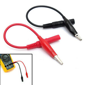 Multi Meter Test Lead Alligator Crocodile Clip For Fluke Vichy Meter Rgs