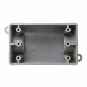 Kraloy Fsc05 078226 Non metallic Pvc Fsc Electrical Box One gang 1 2