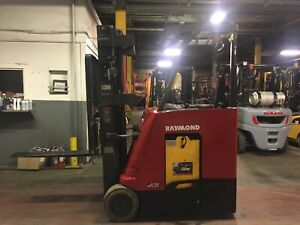 Raymond 3000 Lb Electric Forklift Side Shift Max Lift 227 Stand Up