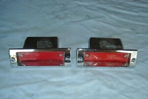 1966 Plymouth Sports Fury Rear Seat Interior Courtesy Lamps Red Pair 29778