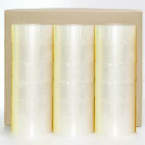 72 Rolls Carton Sealing Clear Packing Shipping Box Tape 2 Mil 1 9 X 110 Yards