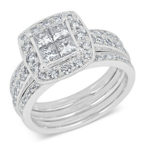 1-12 Ctw Diamond Bridal Set with Guard in 14k White Gold Black Friday Deals